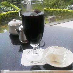 アイスコーヒー980円をいただきました。お庭がきれいで眺め…