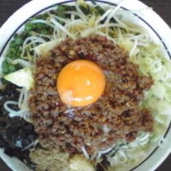 全粒粉を使用した極太麺の周りに葱、海苔・魚粉・モヤシ・キャ…