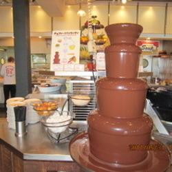 チョコファウンテン ポッキーにチョコを絡めます。。。 お気…