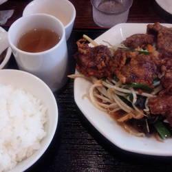[食堂・定食]レバニラ定食KEI楽